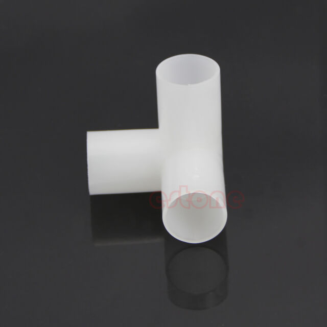 Lot Of Plastic 20mm Equal Tee Connector For Aquarium Tank Water Hose Pipe Tube