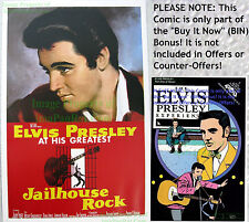 80's Vintage ☆ Elvis Presley ☆ JAILHOUSE ROCK ☆ Lobby Card Poster Litho +Bonus