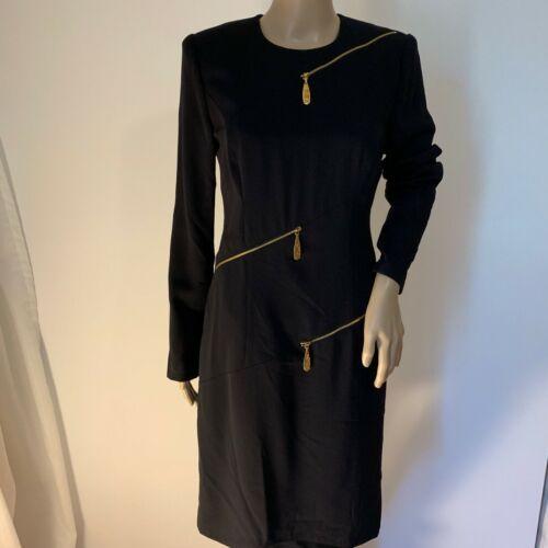 ESCADA Black Zipper Dress
