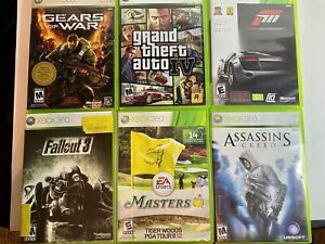 🔥Xbox 360 Game Lot GTA, Gears of War, Fallout 3, Assassins Creed, Forza 3 Etc..