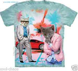 e64dcbf05 Details about 80's Spoof Miami Vice Funny Cat T-Shirt Tie Dye,Cats,Weird,Kitten,Gag  Gift