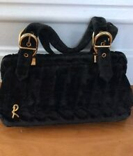 Vintage Roberta Di Camerino Black Velvet Evening Bag Neiman Marcus
