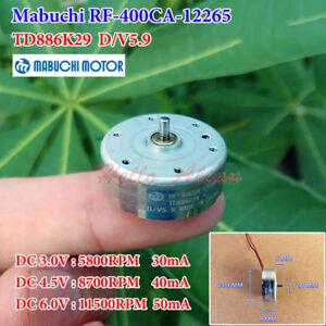 Mabuchi RF-410CA DC 1.5 V 2 V 3 V 5900 tr//min Ultrathin Micro Rond Solar Power Motor