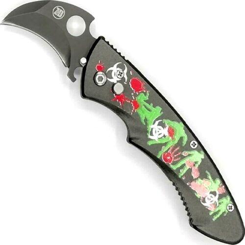 HALLER Karambit Springmesser Klappmesser Einhandmesser Automatik Messer 5 cm