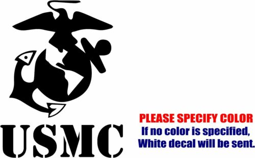 "USMC MARINE CORPS EMBLEM Decal Sticker Funny Vinyl Car Window Bumper Truck 7/"""
