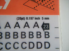 DECADRY 5mm Transfer Letters 20pt 2 sheets
