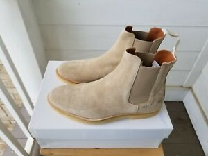 Common Project Chelsea Boots Suede Tan Sand 40