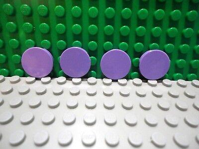 Lego 4 Lavender 2x2 round finish tiles NEW