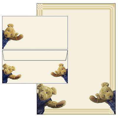 Teddybären Set Motivpapier Briefpapier 20 Blatt A4 10 Umschläge Kinder Mädchen
