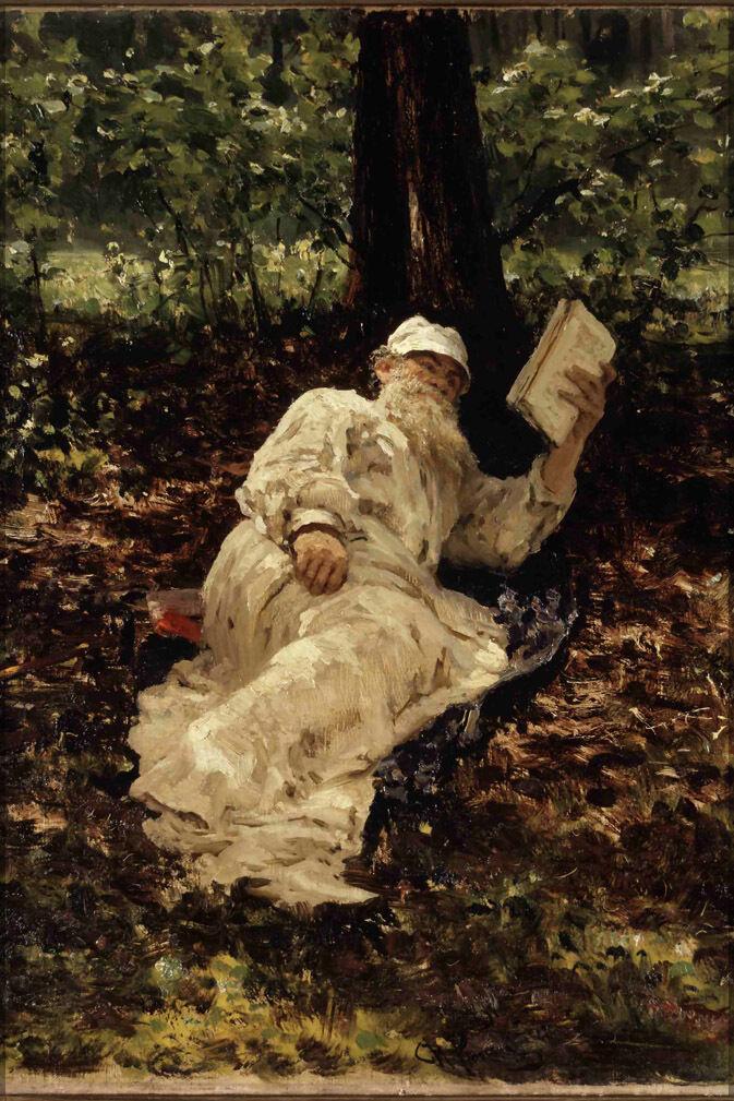 Plakat, Viele Größen; Leo Tolstoy von Ilya Repin P3