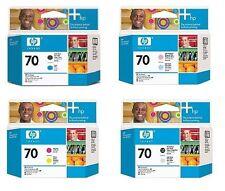 4x Testina di stampa HP Designjet Z2100 Z5200/Nr. 70 C9404A C9405A C9406A C9407A