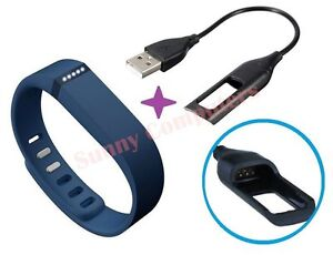Wristband-With-Metal-Clasp-USB-Charger-Cable-For-Fitbit-Flex-Pedometer-Pedometer