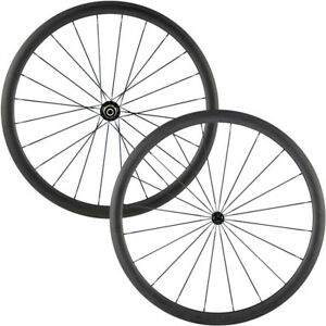 Carbon-Road-Bike-Wheels-700C-38mm-Bitex-R13-Hub-QR-J-Bend-20-24H-Clincher-3K