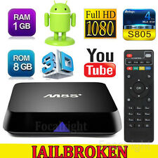 2017 M8S+ Plus Quad Core Android 4.4 Smart TV Box Media Player Fast Shipping