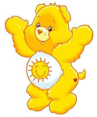 """Funshine Care Bear Iron On Transfer 5"""" x 6"""" only for LIGHT Colored Fabric"""