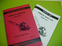 Homelite Chainsaw 26 Lcs Instruction Book Manual With Parts List ------ Box550ab