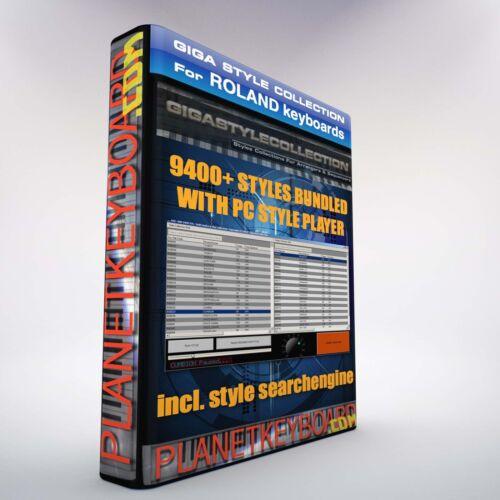 Lecteur de Styles PC sur clé USB 9400 Styles Styles ROLAND BK-7m BK7 BK9 BK