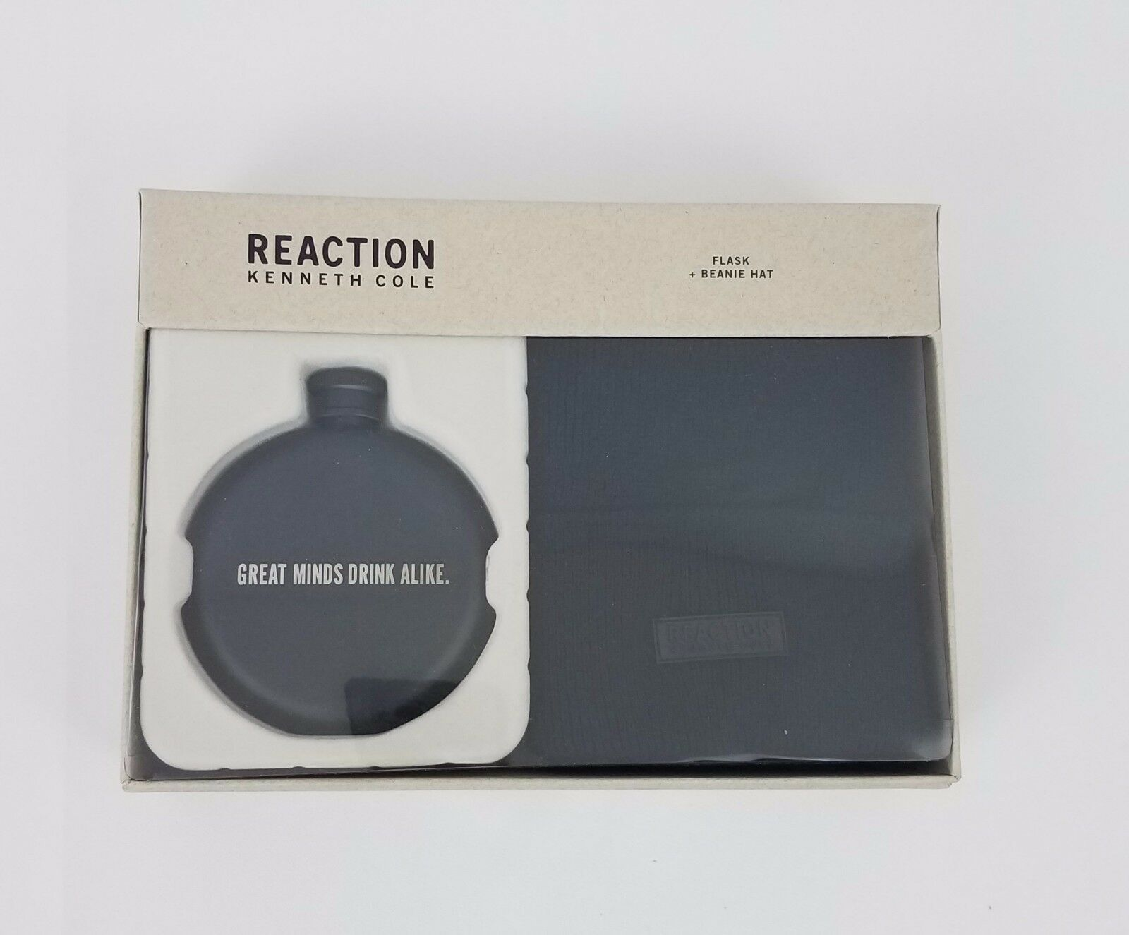 Kenneth Cole Reaction and Men's Flask and Reaction Beanie Gift Set Black 41KC370001 9a86d9