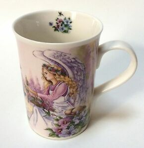 Angel Star Porcelain Coffee Tea Mug Cup Purple Wings