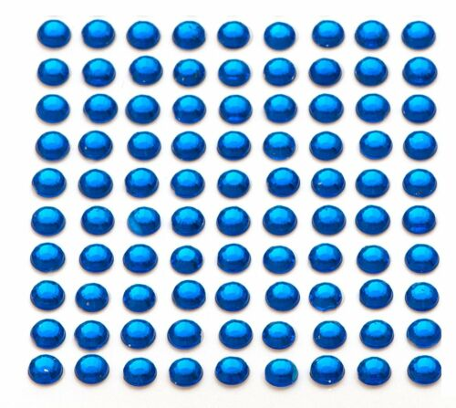 260 x 5mm Self Adhesive Blue Diamante Stick on Crystals Sticky Rhinestone Gems