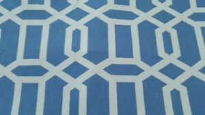 Mill-Creek-Bondi-Wedgewood-blue-white-geometric-fabric-56-034-width-BTY-18yds-NEW