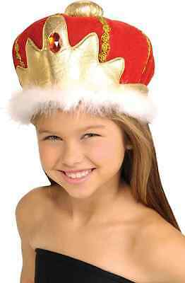 Queen's Crown Red Jeweled Royal Fancy Dress Halloween Child Costume Accessory