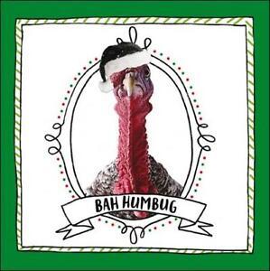Bah-Humbug-Christmas-Turkey-Greeting-Card-Animal-Humour-Xmas-Cards