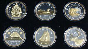 Canada-2015-Big-Coins-Series-5-OZ-Silver-Complete-Set