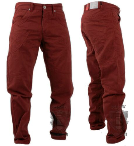 Mens New Enzo Straight FIT Tapered Cotton Blend in Rred Colour All Size