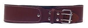 2-5-034-Natural-Leather-Foam-Padded-Belt-48-034-Length-Brown-Color