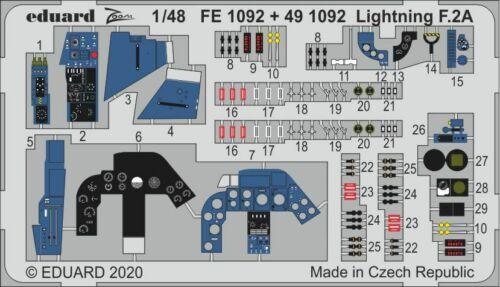 Eduard 1//48 BAC//EE Lightning F.2A//F.6 Zoom Set # FE1092