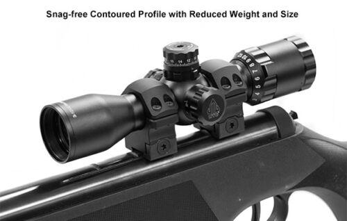 "UTG PRO Leapers 1/""inch 2PCs Medium Profile P.O.I Dovetail Rail Rifle Scope Rings"