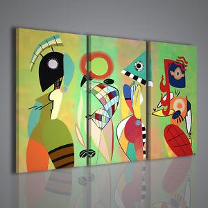 Quadri moderni kandinsky xv stampa su tela di pittori for Quadri astratti famosi