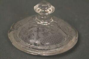 Glas-Deckel-85-mm-Dose-Schale-Facettenschliff-Deckeldose-Deckelschale-Ersatzteil