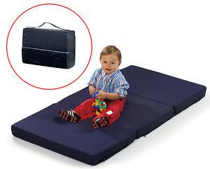 New Hauck Navy Blue Sleeper Folding Travel Cot Mattress