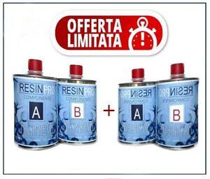 2-CONFEZIONI-DI-RESINA-EPOSSIDICA-GR-800-TOTALE-1-6-KG-CONSEGNA-RAPIDA-amp-GRATUITA
