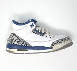 Nike-Air-Jordan-3-Retro-GS-True-Blue-398614-104-Size-4Y-Youth-Basketball-Sneaker