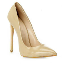 High Heels Stiletto Pumps in Beige Lack mit 13 cm absatz in Gr. 37-38-39-40