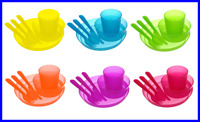 12pcs Unbreakable And Reusable Kids Party Dinnerware Utensils Bpa Free-2sets