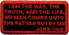 John 14:6 Embroidered Christian Bible Verse Motorcycle Biker Vest Patch PAT-1018