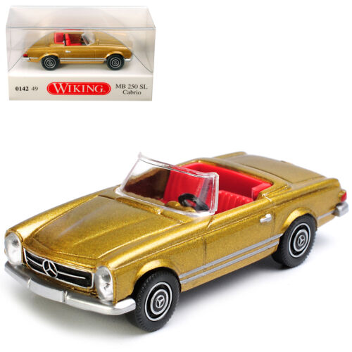 Mercedes-Benz 250SL Pagode Roadster Gold Metallic W113 1963-1971 H0 1//87 Wikin..