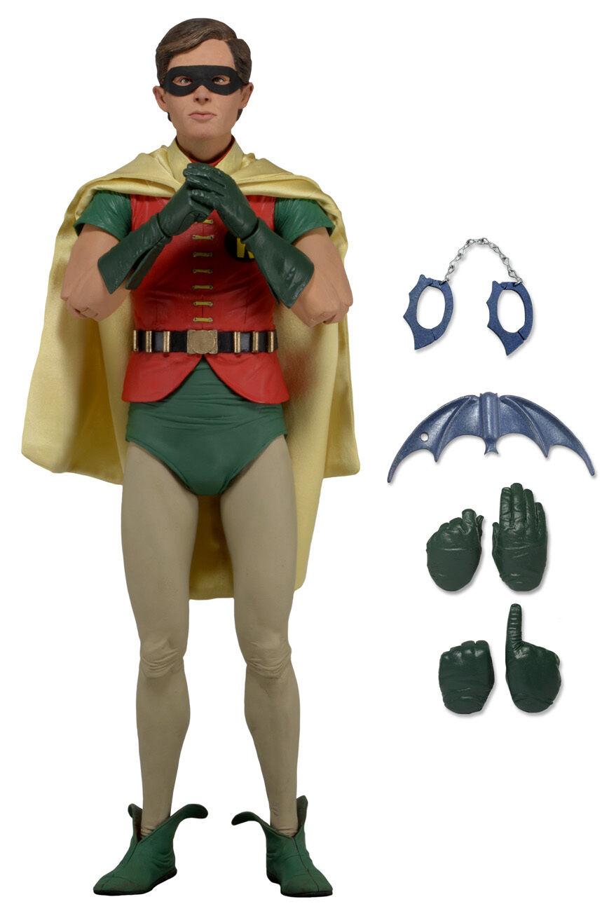NECA 1966 Batman Collection__Burt Ward ROBIN 1 4 Scale figure_17 inches tall_MIB