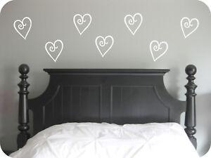 Classic Hearts Vinyl Wall Art Stickers, Bedroom, Lounge, Hallway ...
