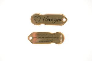 Gold-034-I-love-you-034-Einkaufswagenchip-Metall-1-Stueck-mit-12-Monaten-Schluesselschutz