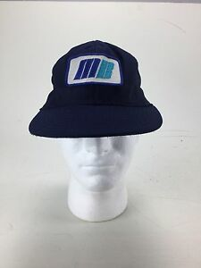 Vintage Rare Mb 3b Blue Trucker Hat Snapback Hipster Bernie Sjw Punk