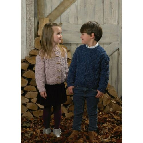 Knitting Pattern James C Brett JB576 Children/'s Aran Pull