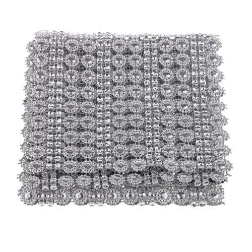 1 Yard Blume Diamant dekorative Strass Mesh Ribbon Verschönerung für