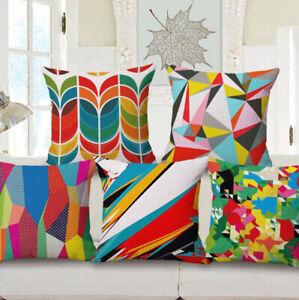 Pillow-Sofa-Home-Cover-Cushion-Decoration-Geometric-Linen-Case-Car-Throw-Vintage