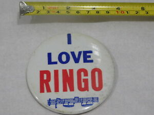 VINTAGE-BEATLES-I-LOVE-RINGO-PIN-BACK-BUTTON-BADGE