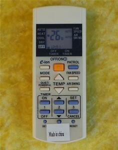 Details about Replacement Panasonic Air Conditioner Remote Control -  A75C3012
